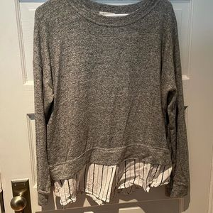 Soft long sleeve tee with button down detailing
